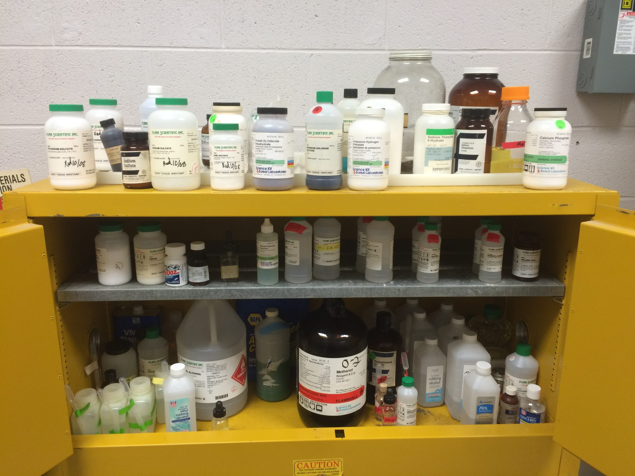 hazardous chemicals in school