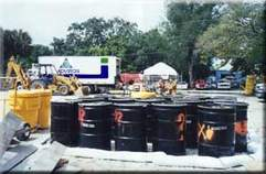 Haz Barrel Staging | Hazardous Waste Determination