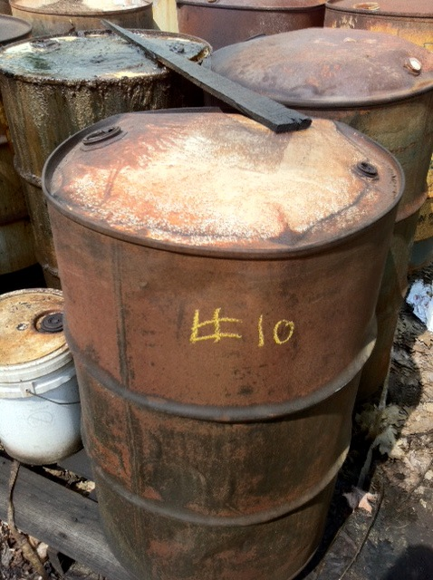 Rusty barrel | unknown chemicals